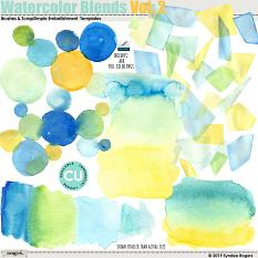 Watercolor Blends Vol. 2 Brushes and Templates