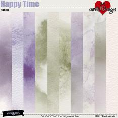 ScrapSimple Digital Layout Collection:Happy Time