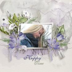 Layout using ScrapSimple Digital Layout Collection:Happy Time
