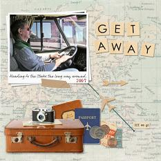Get Away Collection Biggie Layout by Susie Roberts