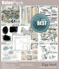 layout using Egg Hunt Brush : Watercolor Ink by Florju Designs