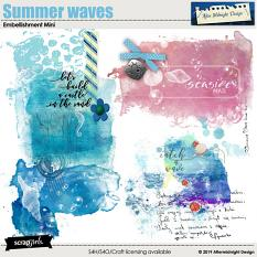 Summer waves Embellishment Mini by Aftermidnight Design