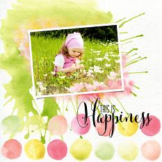 Scrapbook page created with Watercolor Blends Vol. 3 Brushes and Templates