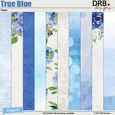 True Blue Papers by DRB Designs | ScrapGirls.com