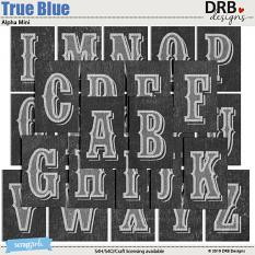 True Blue Alpha by DRB Designs | ScrapGirls.com