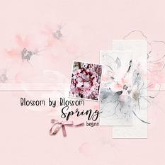 Layout using ScrapSimple Digital Layout Collection:Flower Singing