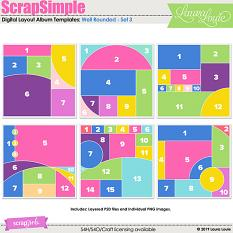 ScrapSimple Digital Layout Album Templates: Well Rounded - Set 3