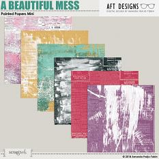 A Beautiful Mess #digitalscrapbooking Painted Printable Papers by AFT Designs @ScrapGirls.com