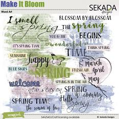 Make It Bloom Word Art