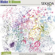 Make It Bloom Embellishment Mini Splatter