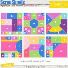 ScrapSimple Digital Layout Album Templates: Well Rounded - Set 2