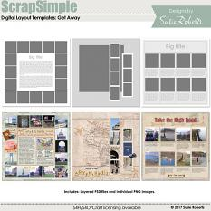 ScrapSimple Digital Layout Templates: Get Away