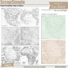 ScrapSimple Paper Templates: Map Overlays