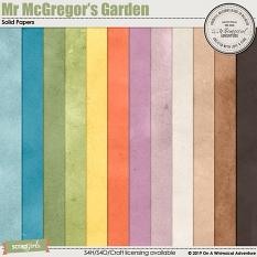 Mr McGregor's Garden Solid Papers by On A Whimsical Adventure