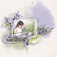 Layout using ScrapSimple Digital Layout Collection:RainyDay