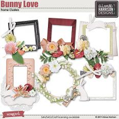 Bunny Love Frame Clusters