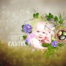 layout using Value Pack : Easter Hop by Florju Designs