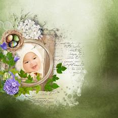 layout using ScrapSimple Embellishment template: Easter Hop Clipping Masks by Florju Designs
