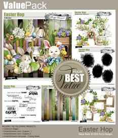 layout using Easter Hop Embellishment Biggie by Florju Designs