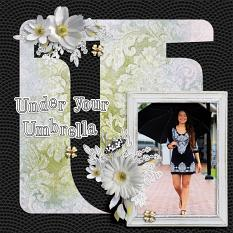 """Under Your Umbrella"" digital scrapbook layout by Darryl Beers"