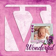 """Wonderful"" digital scrapbook layout by Shauna Trueblood"