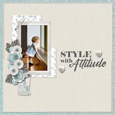 """""""Style with Attitude"""" digital scrapbook layout by Carmel Munro"""
