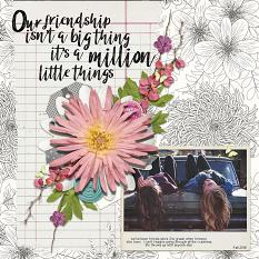 Friendship layout by Angie Briggs using Spring Sherbet