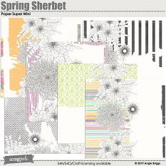 Spring Sherbet Collage Papers