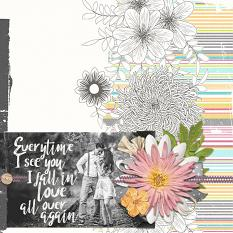 Couple layout using Spring Sherbet Collage Papers
