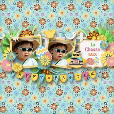 Egg Hunter Patterned Papers Details