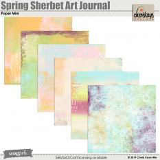 Spring Sherbet Art Journal Paper Mini by Cheré Kaye Designs