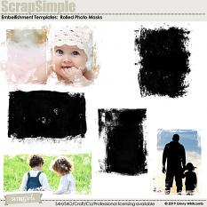 ScrapSimple Embellishment Template:  Rolled Photo Masks