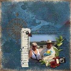 """""""Moments Captured"""" digital scrapbooking layout using Scrap Simple Embellishment Templates:  Stitched Text Frames"""