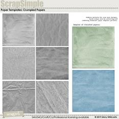 ScrapSimple Paper Templates:  Crumpled Papers