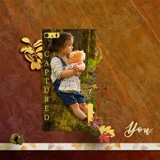 """You"" digital scrapbooking layout using Scrap Simple Paper Templates:  Crumpled Papers"
