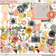Embellishments included in Just Peachy digital kit