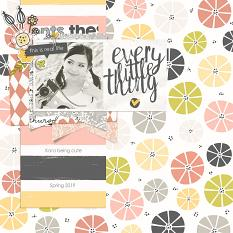 Scrapbook page created with Just Peachy digital scrapbook kit