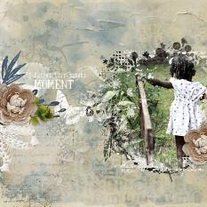 layout using Botanical Journal Clipping Masks by Florju Designs