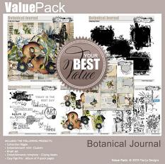 layout using Botanical Journal Collection Biggie by Florju Designs