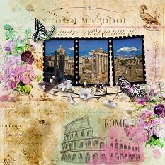 Layout by BrightEyes using Rome - The eternal city Paper Mini by Aftermidnight Design