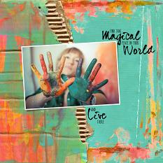 Layout created with Corrugated paper templates and masks