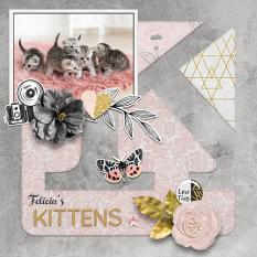 """Felicia's Kittens"" digital scrapbook layout by Darryl Beers"