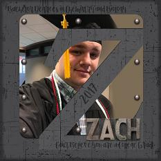 """Zach"" digital scrapbook layout by Vikki Lamar"