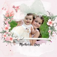 Layout using ScrapSimple Digital Layout Collection:Mother's Day