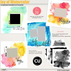 Joy of Watercolor embellishment templates