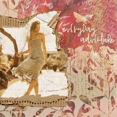 Scrapbook page created with Cardboard Bits embellishment templates