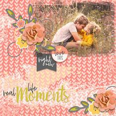 Scrapbook page created with Just Peachy digital paper mini 2