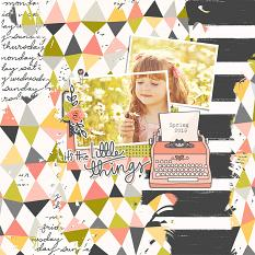 Scrapbook page created with Just Peachy Collection Super Mini