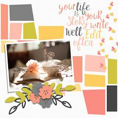 Scrapbook page by Carmel Munro created with Just Peachy Collection Super Mini