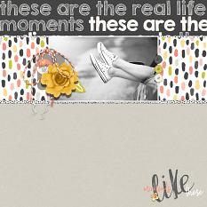 Scrapbook page uses Just Peachy Collection Biggie